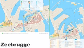 Zeebrugge tourist map