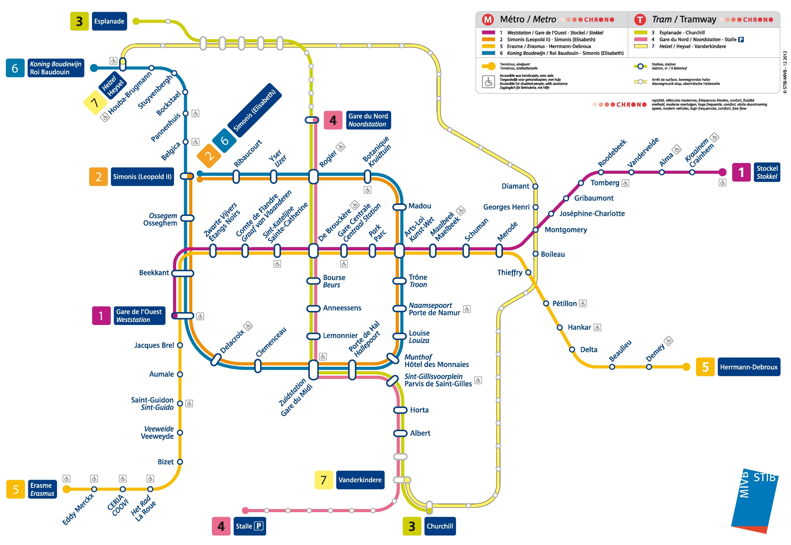 Brussels Metro Map - Brussels on world map