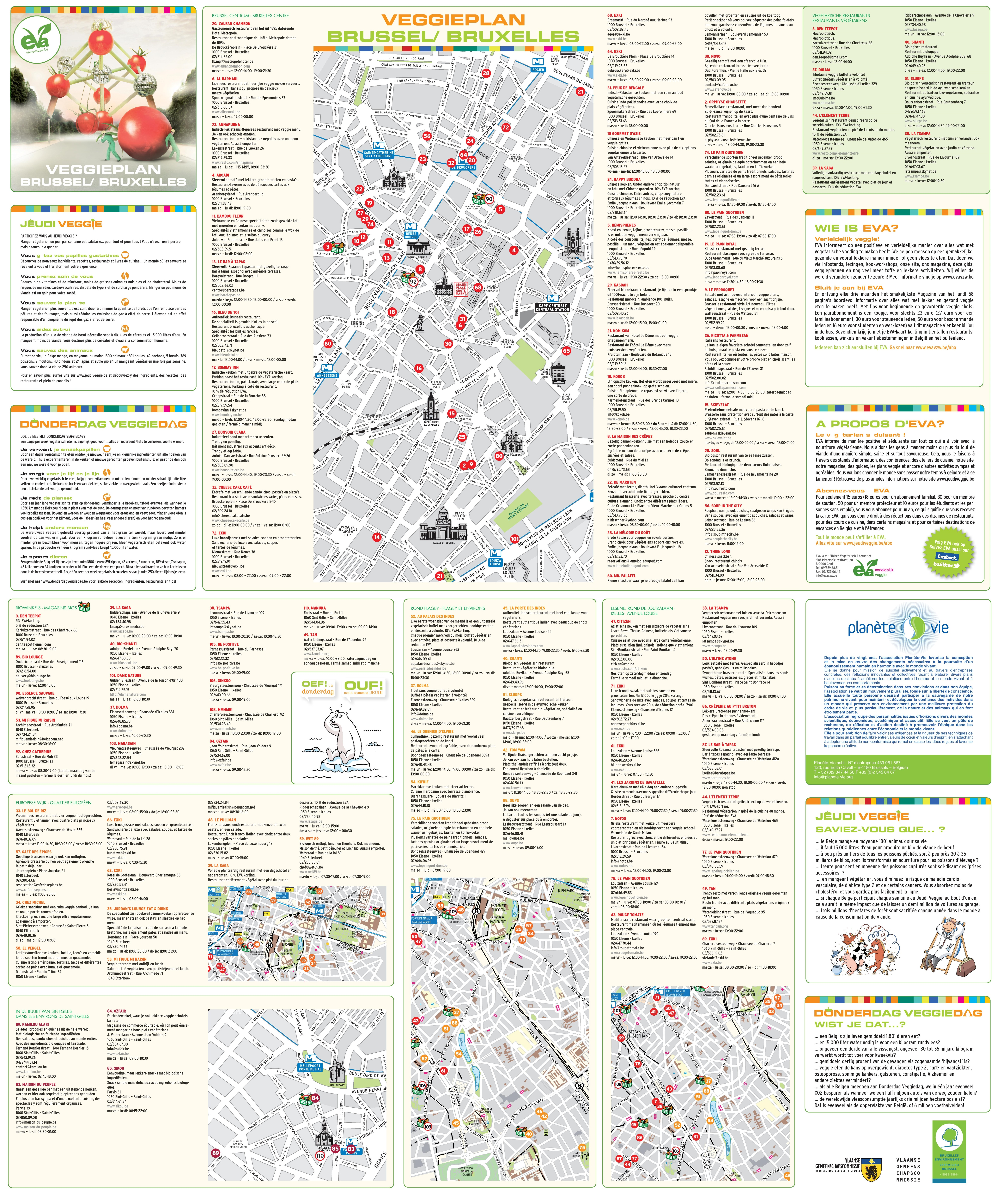 Brussels tourist attractions map – Brussels Tourist Attractions Map