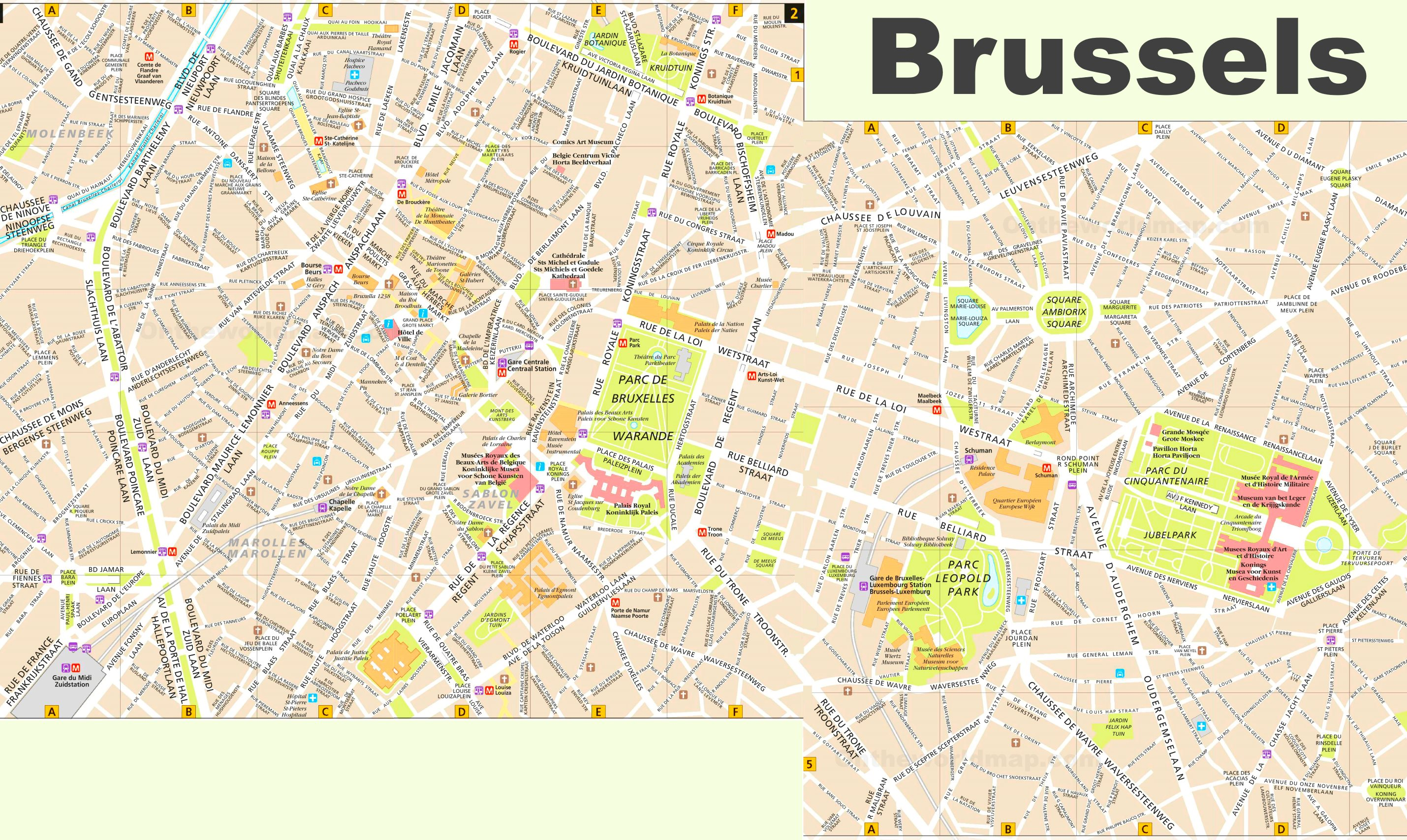 Brussels Tourist Map