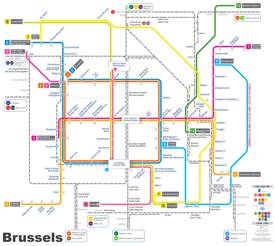 Brussels train map