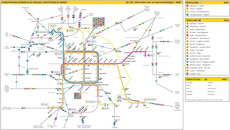 Brussels tram map