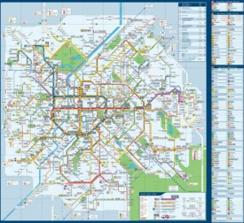 Brussels transport map
