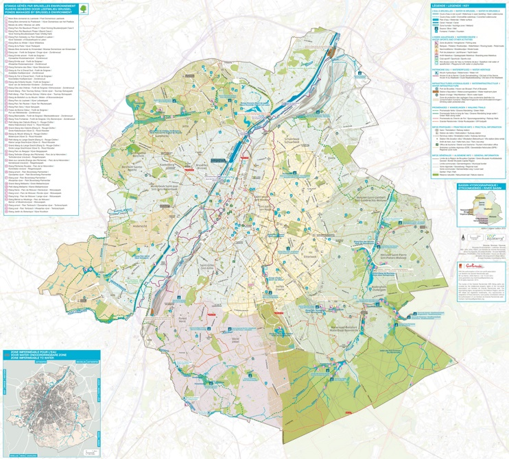 Brussels walking trails map