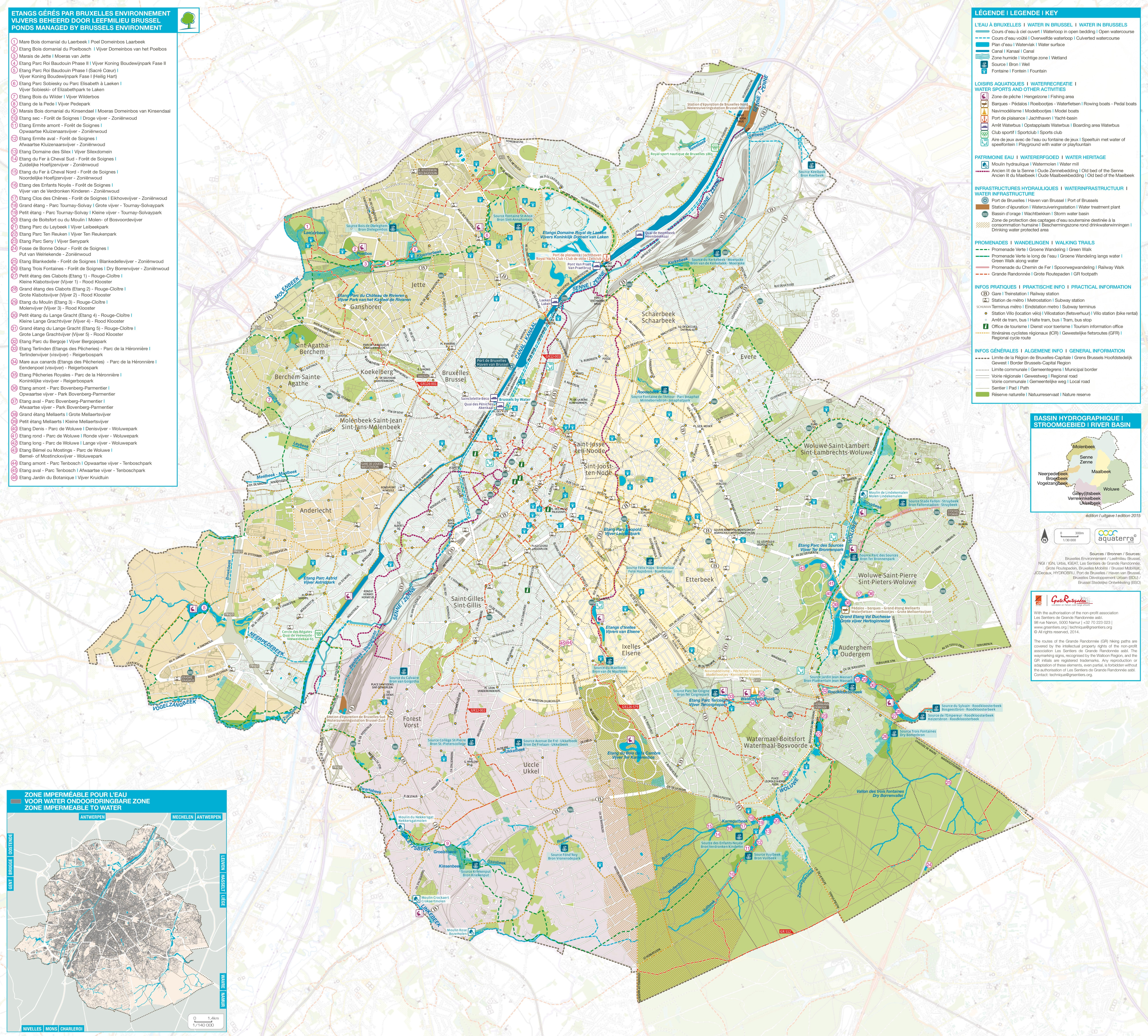 Brussels walking trails map