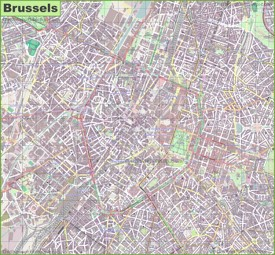 Brussels Maps Belgium Maps of Brussels