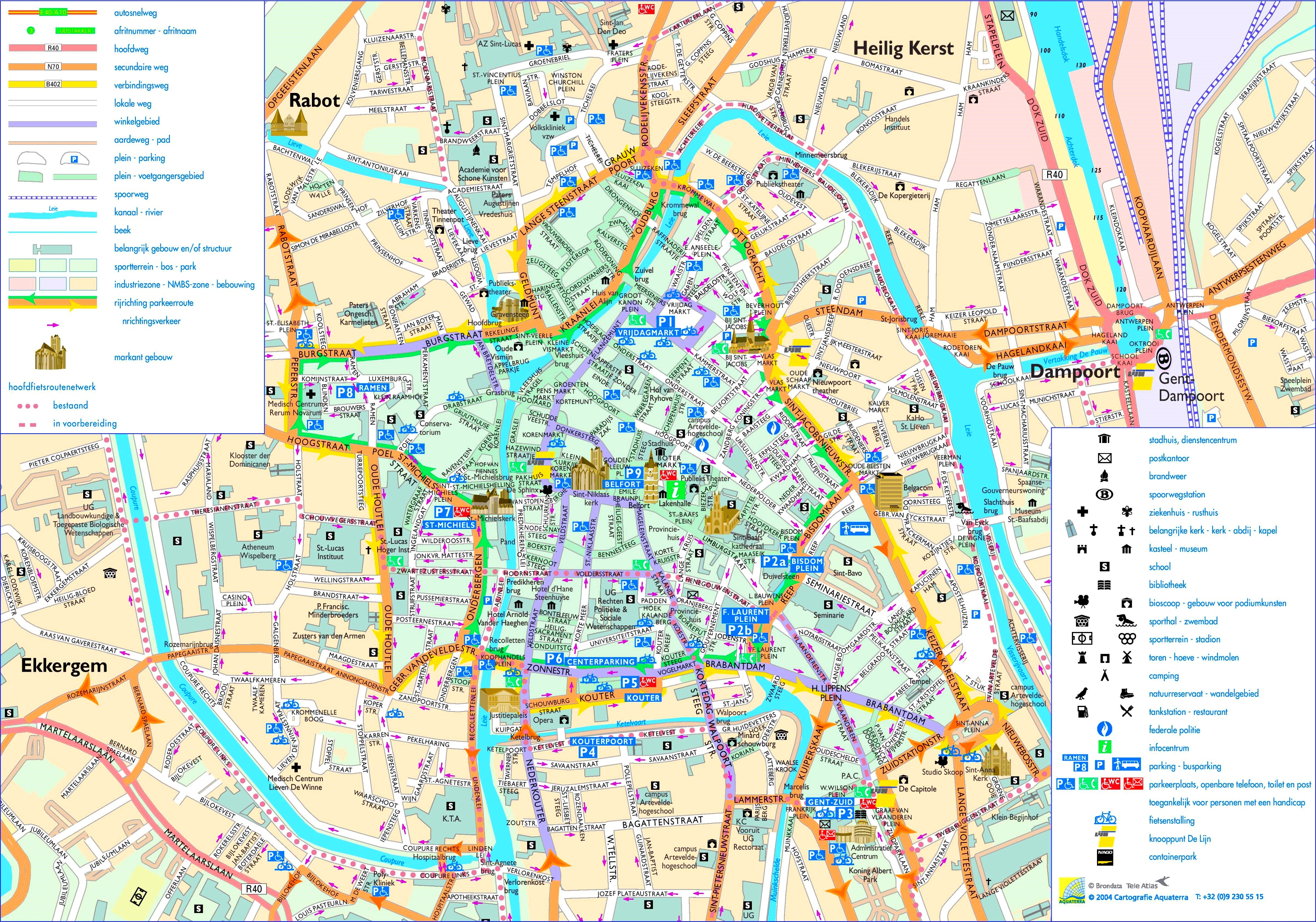 Ghent city center map