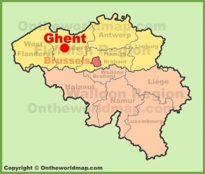 Ghent Location Map