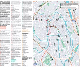 Ghent sightseeing map