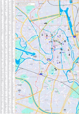 Ghent tourist map