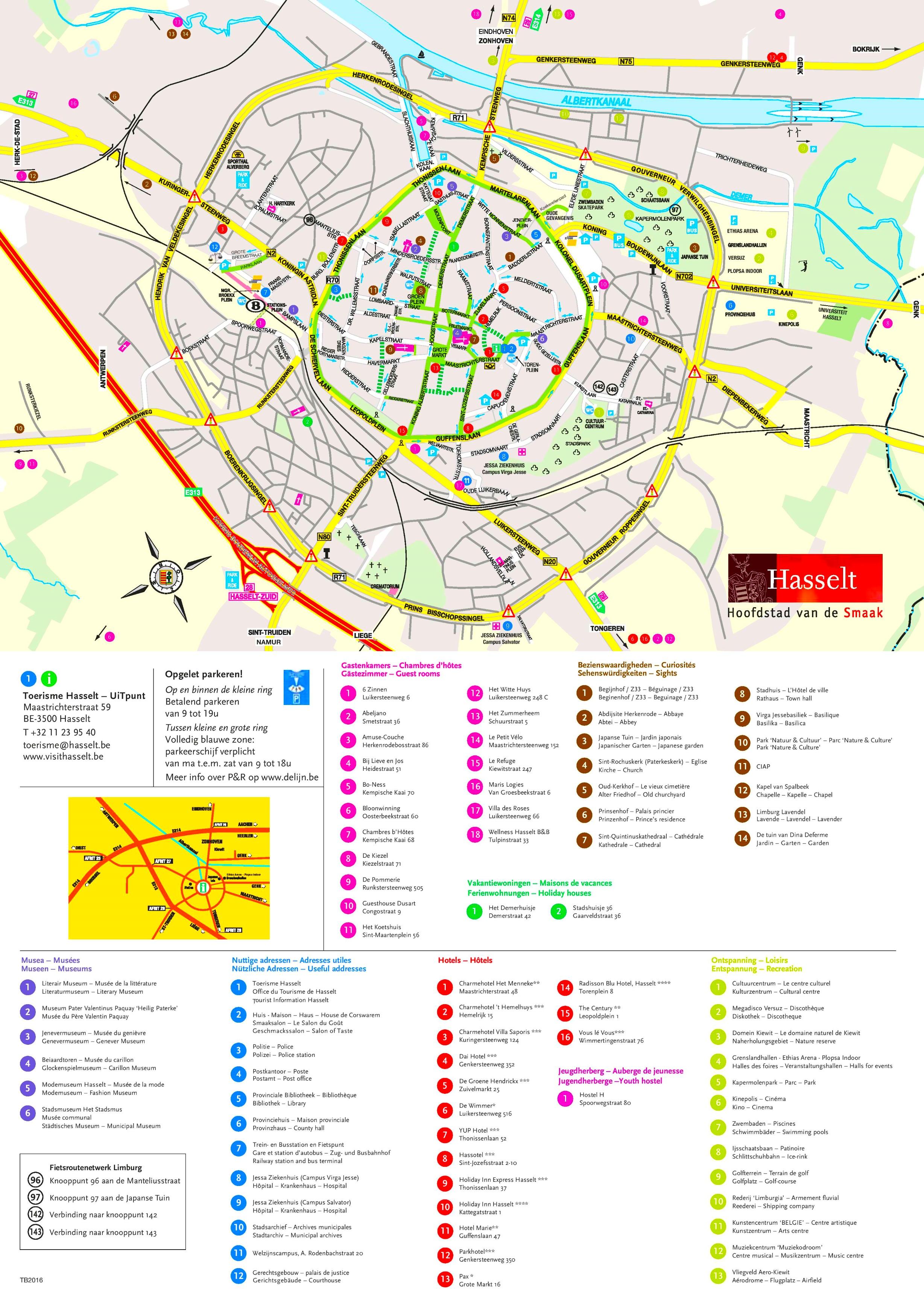Hasselt Maps Belgium Maps of Hasselt