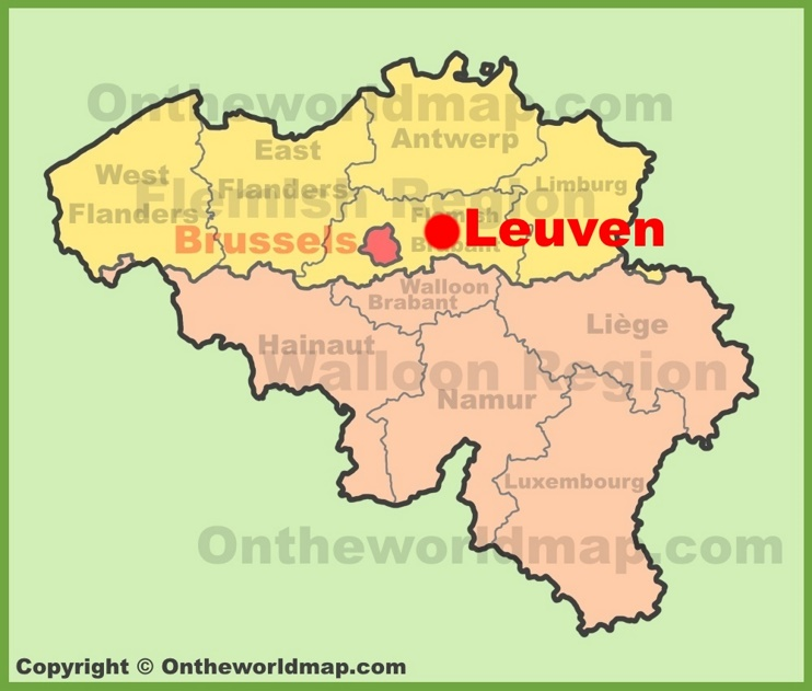 Leuven location on the Belgium Map