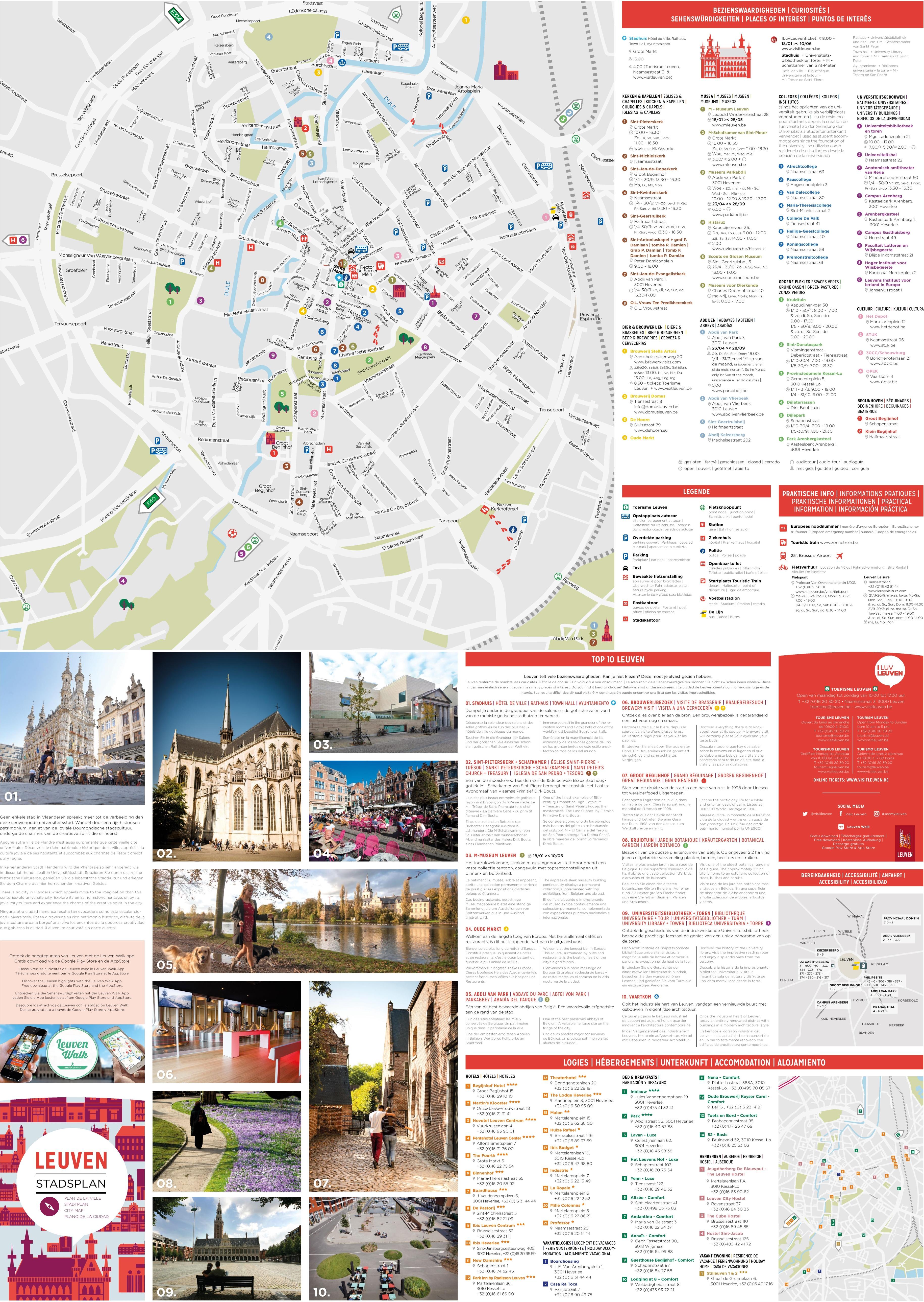 Leuven sightseeing map