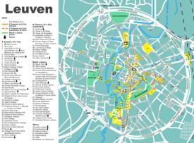 Leuven tourist map