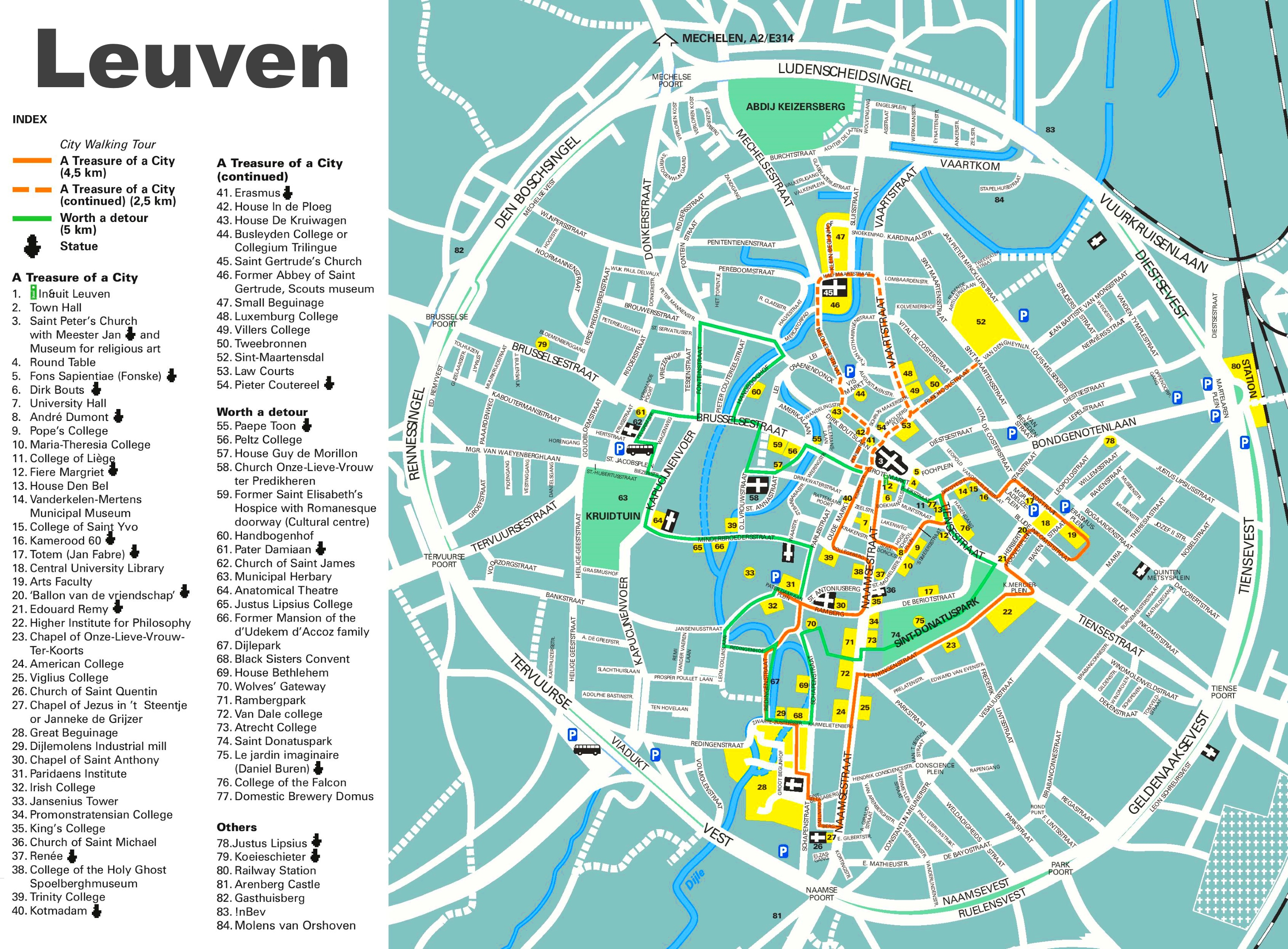 Leuven tourist map