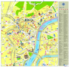 Liège city center map