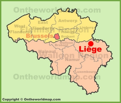Liège Location Map