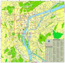 Liège tourist map