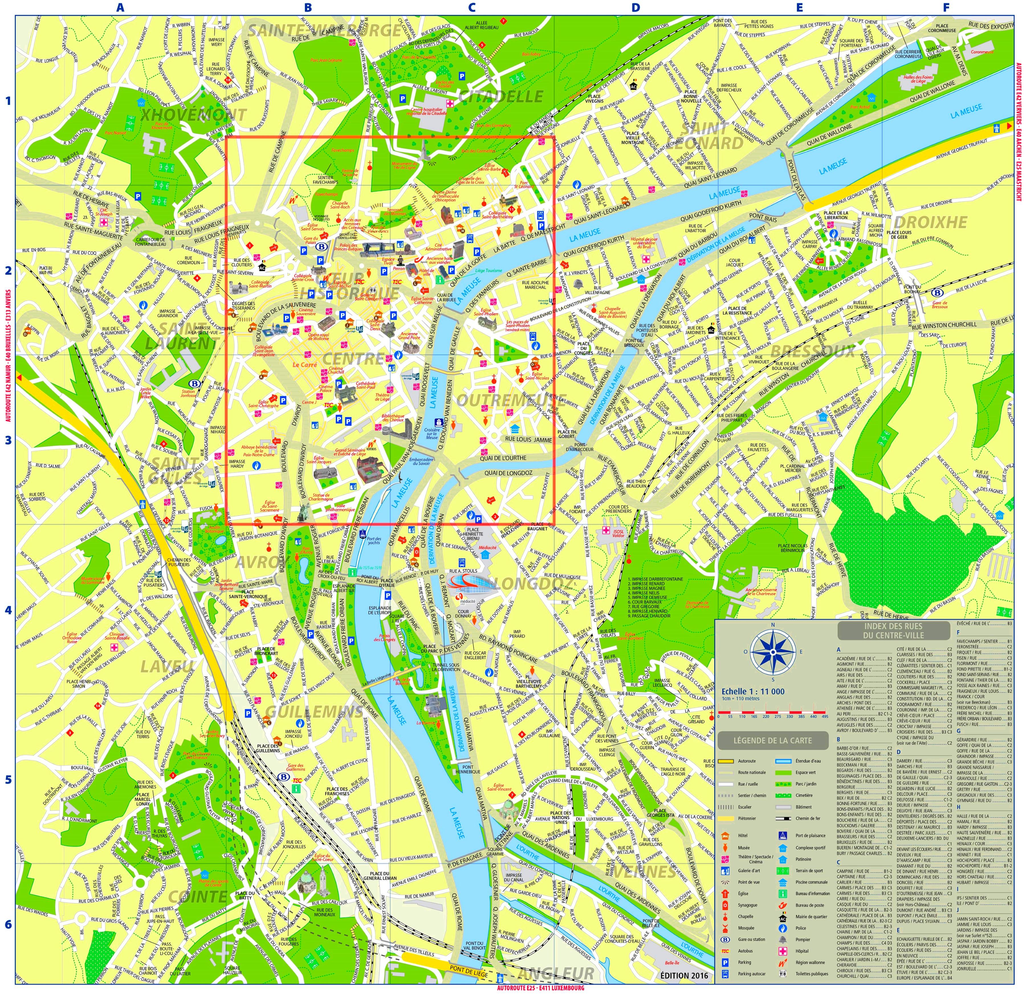 lige tourist map
