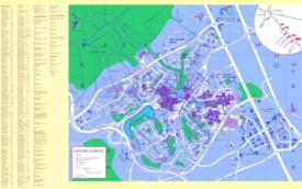Large detailed map of Louvain-la-Neuve
