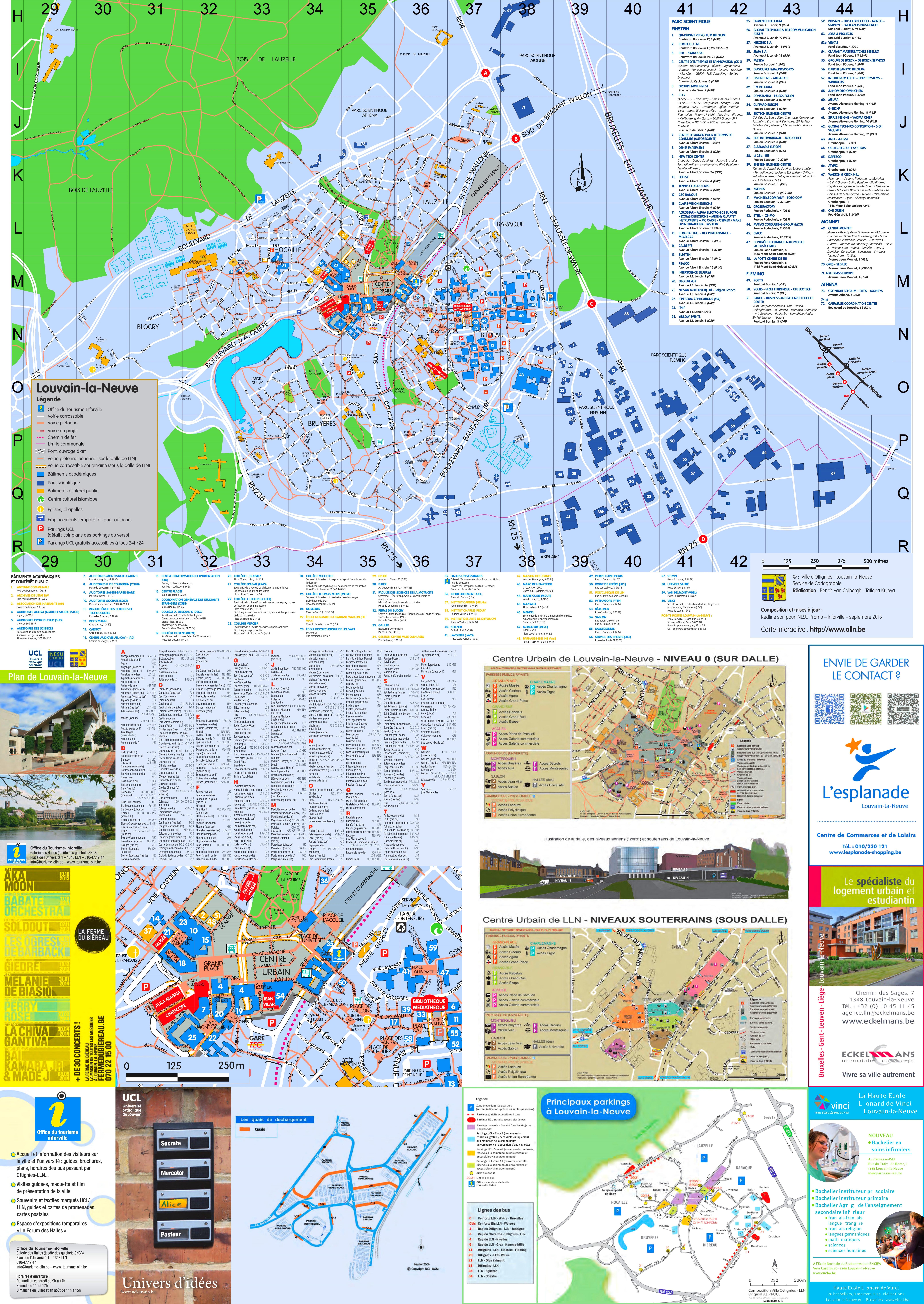 LouvainlaNeuve tourist map