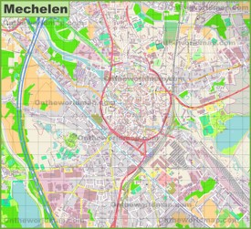 Mechelen Maps Belgium Maps of Mechelen Mechlin