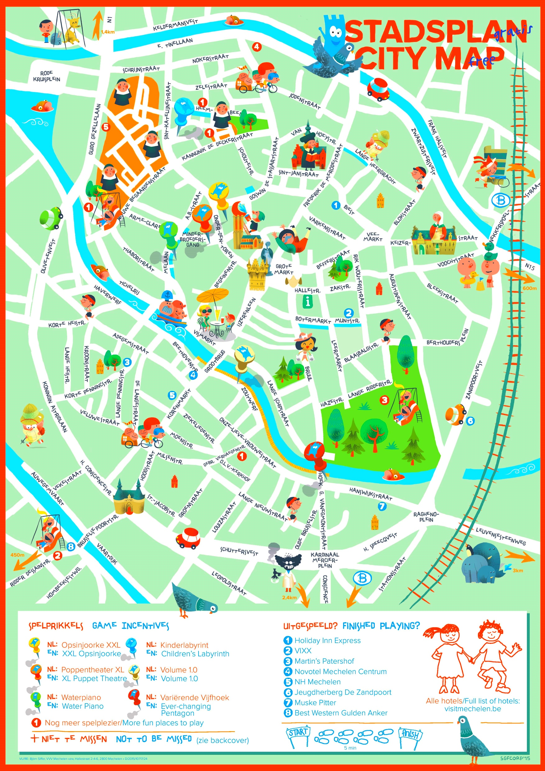 Mechelen map for kids