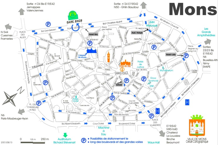 Mons city center map