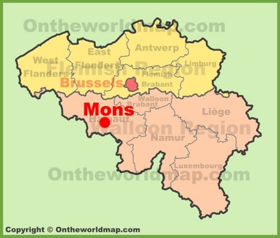Mons Location Map