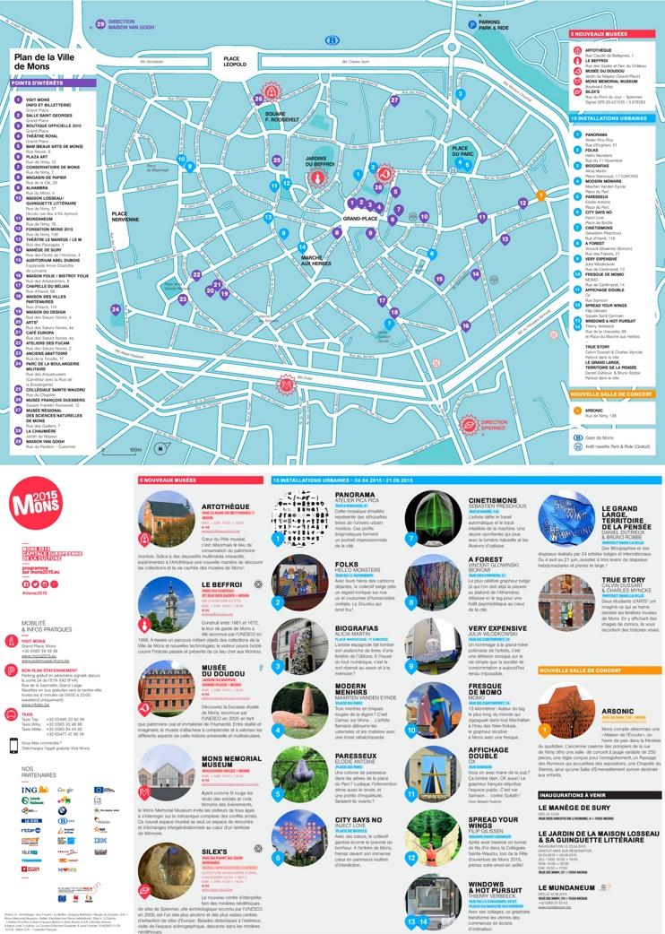 Mons tourist map
