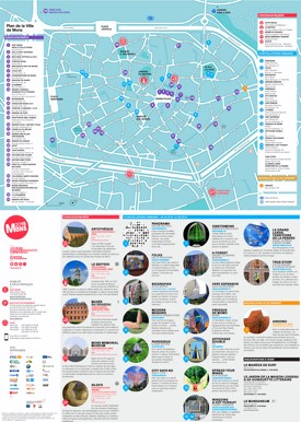 Mons tourist map
