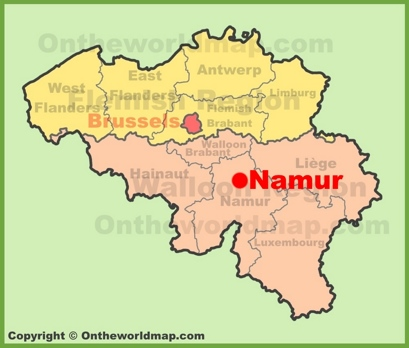 Namur Location Map