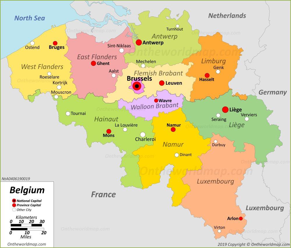 Belgium Maps | Maps of Belgium