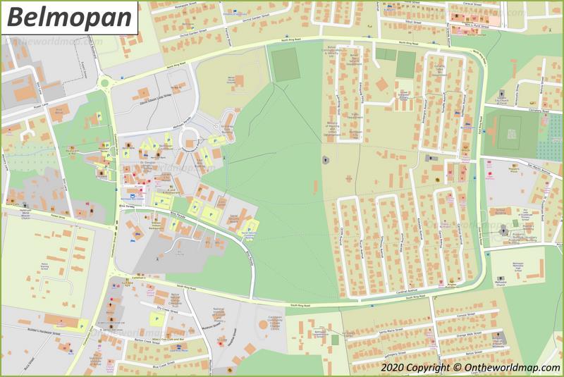 Belmopan Downtown Map