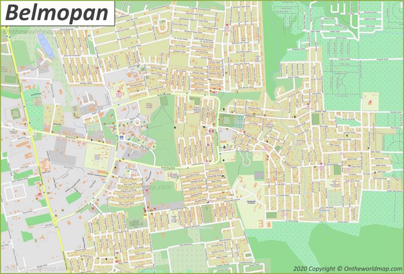 Map of Belmopan