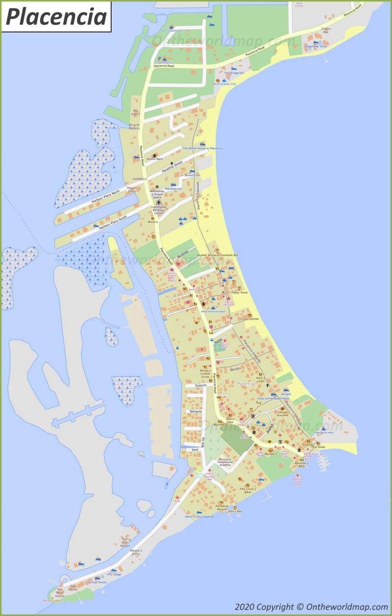 Map of Placencia
