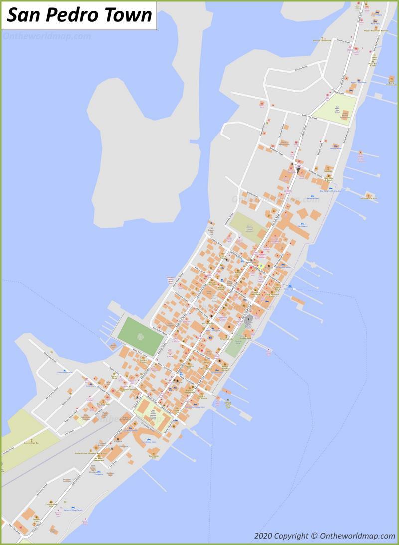 Map of San Pedro Town