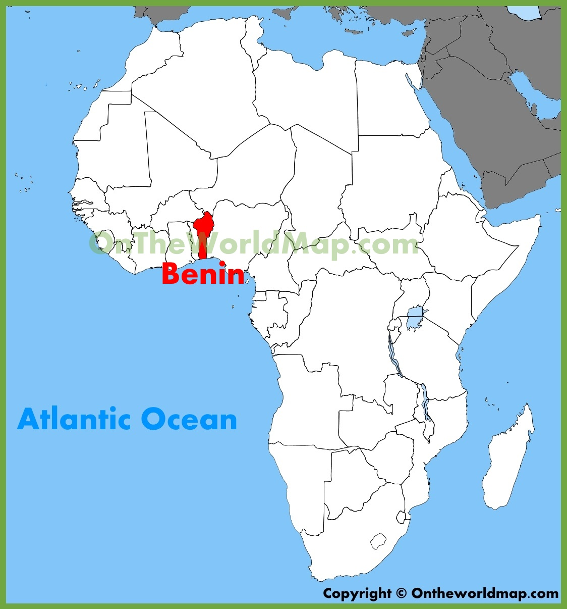 Benin location on the Africa map