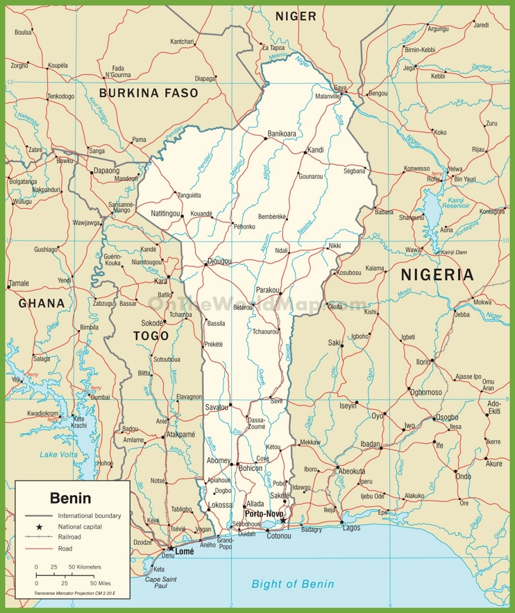 Benin road map