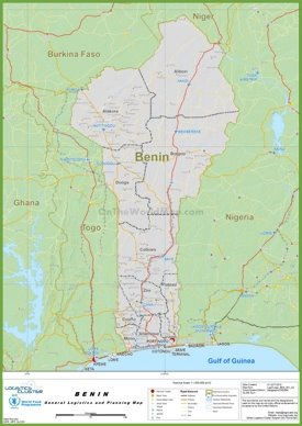 Large detailed map of Benin