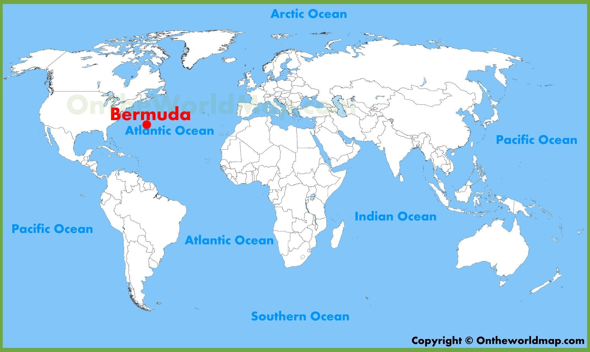 Bermuda On A Map Bermuda location on the World Map Bermuda On A Map