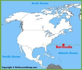 Bermuda location on the North America map