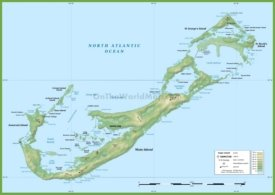 Bermuda physical map