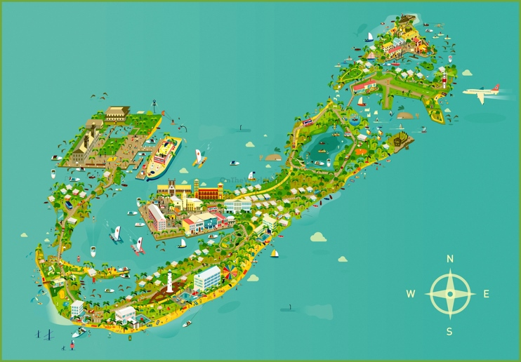 Bermuda tourist map