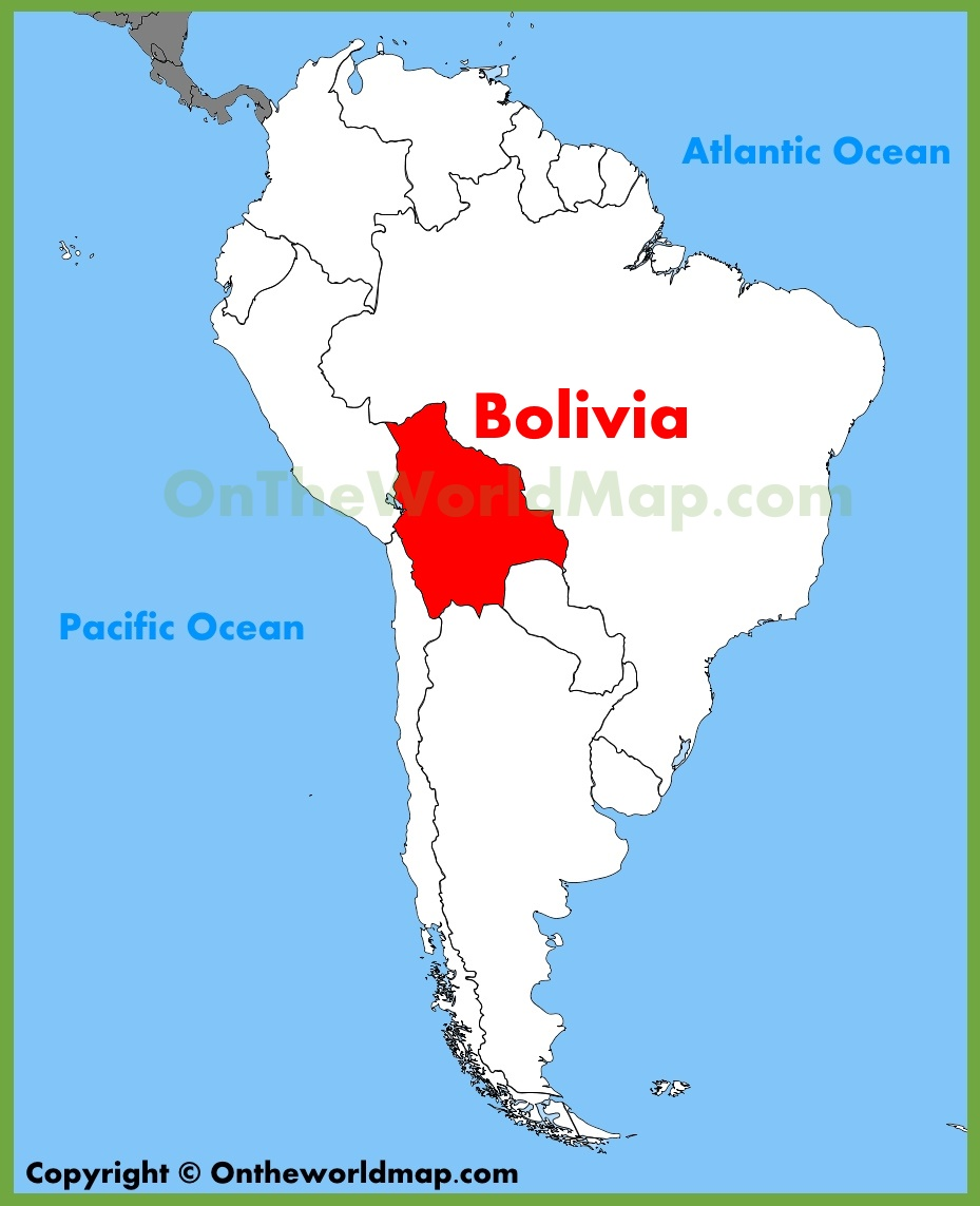 Bolivia Location On The South America Map
