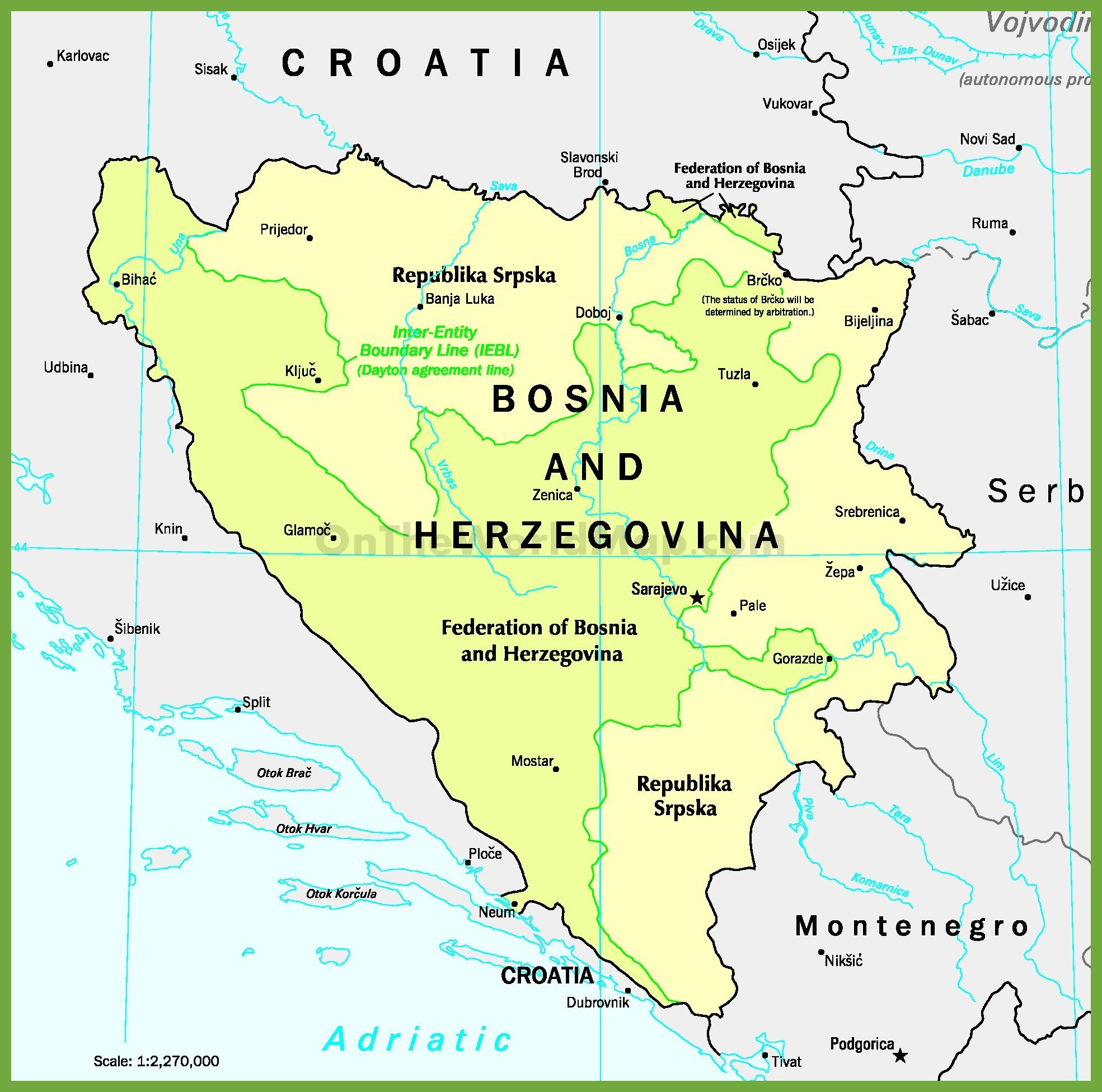 Free Yugoslavia Editable Map - Free PowerPoint Templates