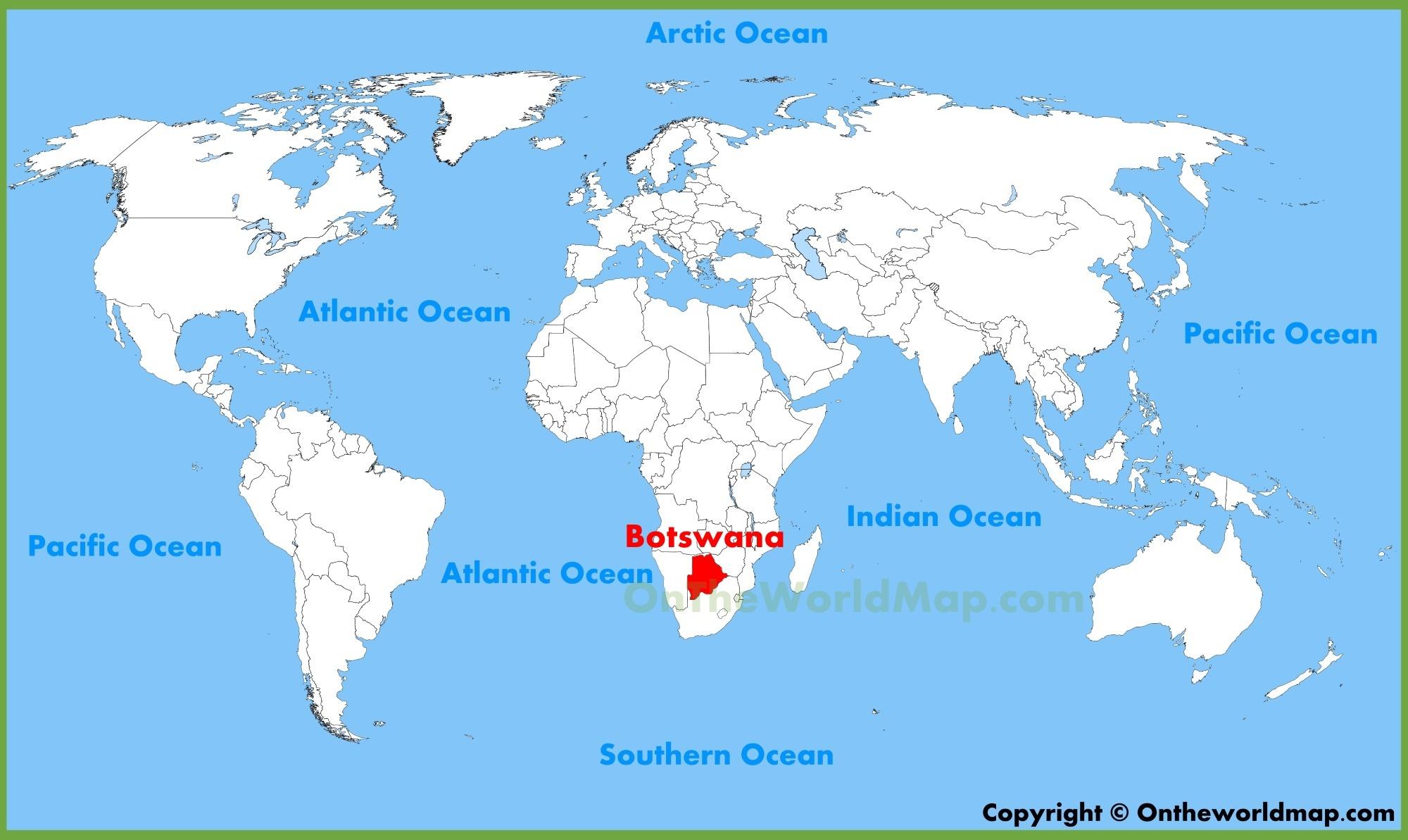 Botswana Maps Maps of Botswana