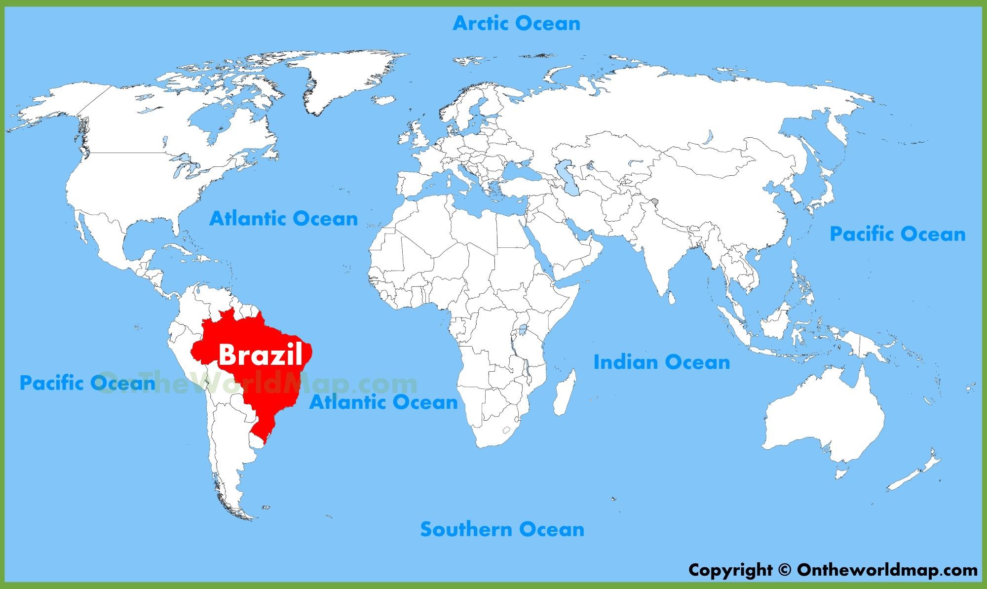 Brazil On The Map Brazil location on the World Map Brazil On The Map