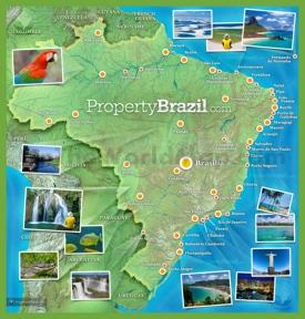 Brazil tourist map