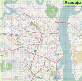 Large detailed map of Aracaju